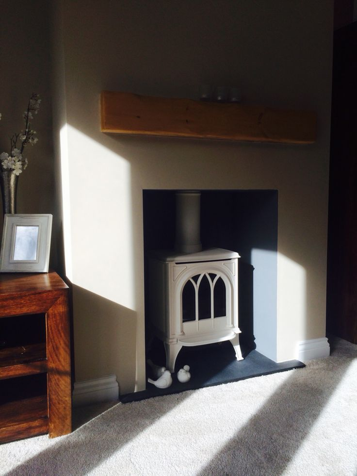 #fireplace #creamstove #farrowandball #oxfordstone