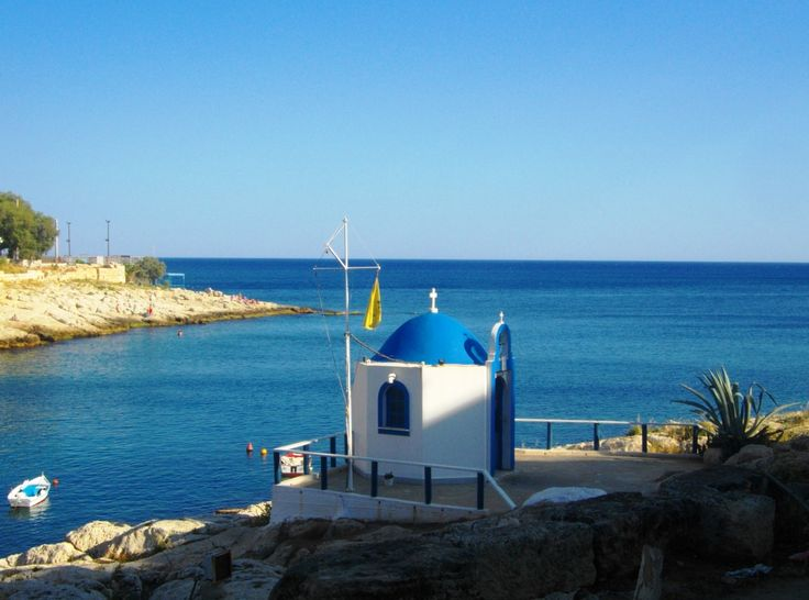 chapel at the small fishing port at Kallipolis, Peiraias Greece