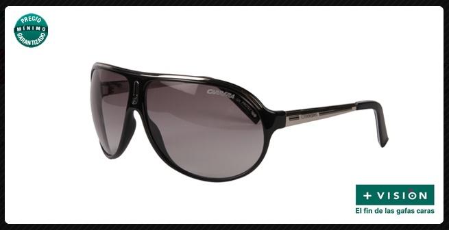 Gafas de sol Carrera, de pasta negra con lentes oscuras. [Precio mínimo garantizado]     #gafas #GafasDeSol de Ópticas +Visión.