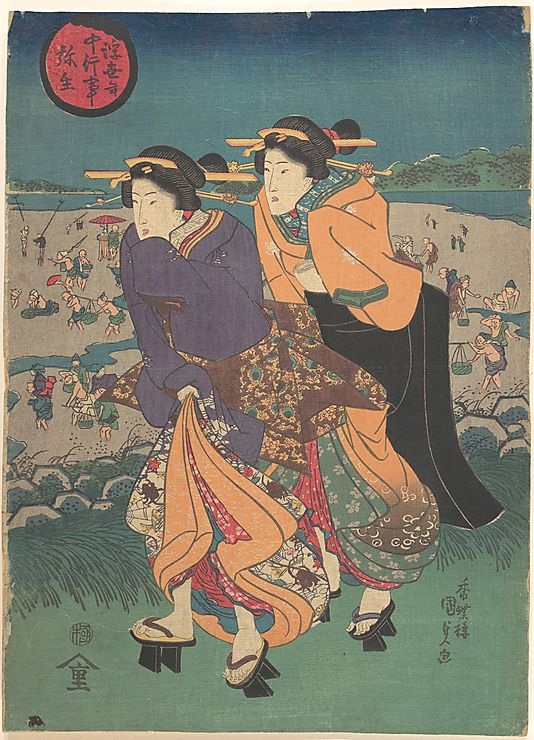Utagawa Kunisada (1786–1864) - Edo period (1600–1868) - Woodblock print; ink and color on paper ~