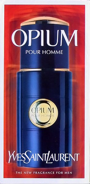 Advert of the fragrance Opium pour Homme(1997) by Yves Saint Laurent