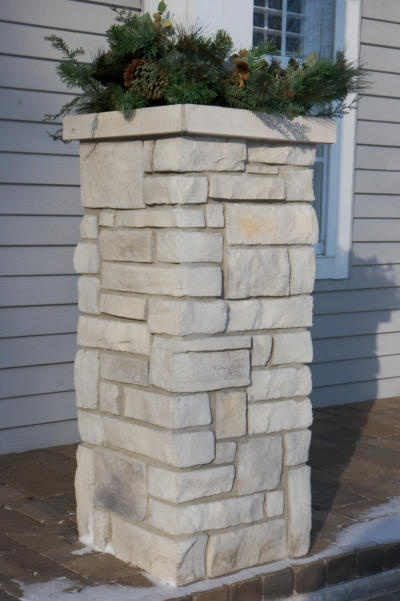Stone Veneer Columns : Best images about stone signs and columns on