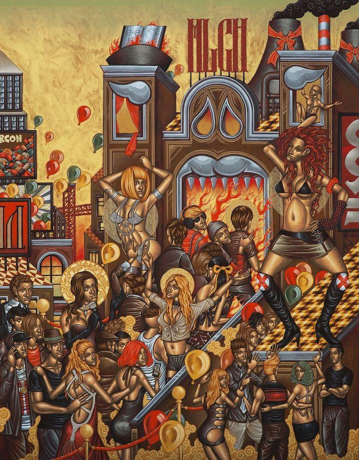 Stelios Faitakis, Moloch, 2013, mixed media on canvas, 245 x 193 cm - CoSA | Contemporary Sacred Art