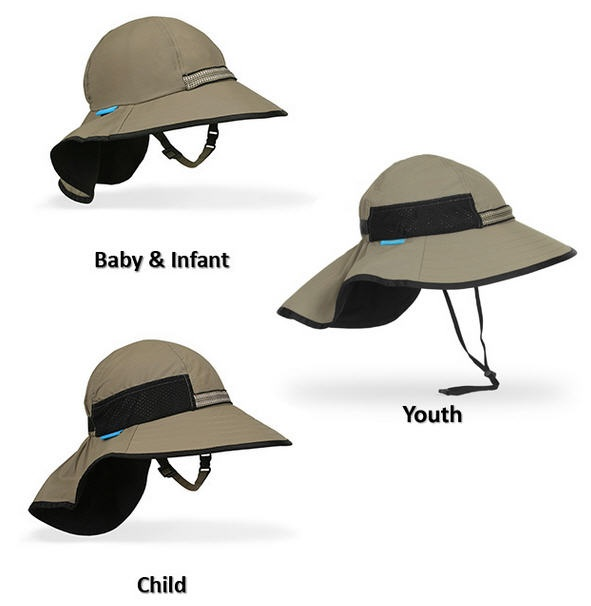 Perfect Kids Sun Hats: 360 degree coverage, super comfortable, lightweight, waterproof, chin strap keeps them on during play, sports, and windy weather! Love these, my fair-skinned kids wear them three seasons a year.