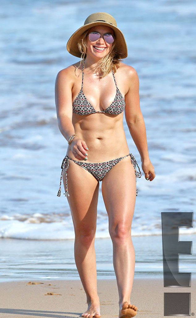 Bikini Bod Alert! Hilary Duff's Washboard Abs Are on Display While on Vacation With Son Luca—See the Pics  Exclusive, Hilary Duff, Bikini