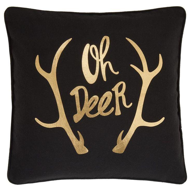 """Coussin décoratif métallisé avec effet laine Oh Deer 18"""" X 18""""   Bouclair.com"""