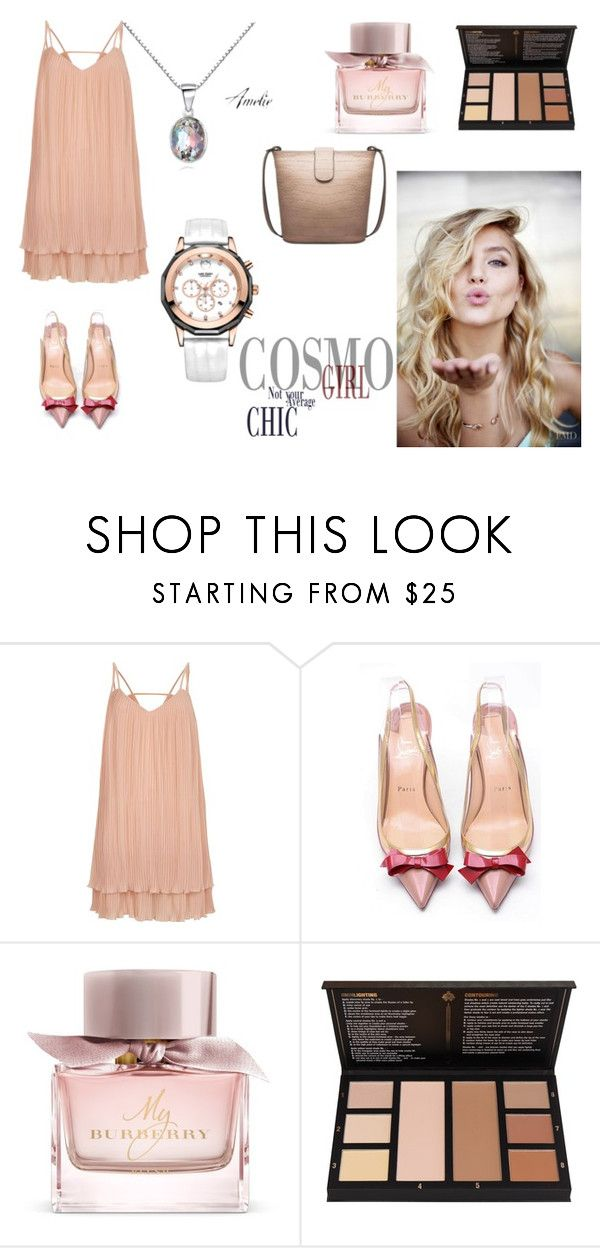 """""""Sexy Cosmo Girl"""" by kjselections ❤ liked on Polyvore featuring River Island, Christian Louboutin and Burberry"""