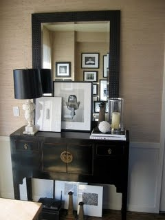 Ron Marvin: Lamps, Vignettes, Foyers Ideas, Beautiful Entry, Decor Ideas, Entry Tables, Consoles Tables, Grasscloth Wallpapers, Front Foyers