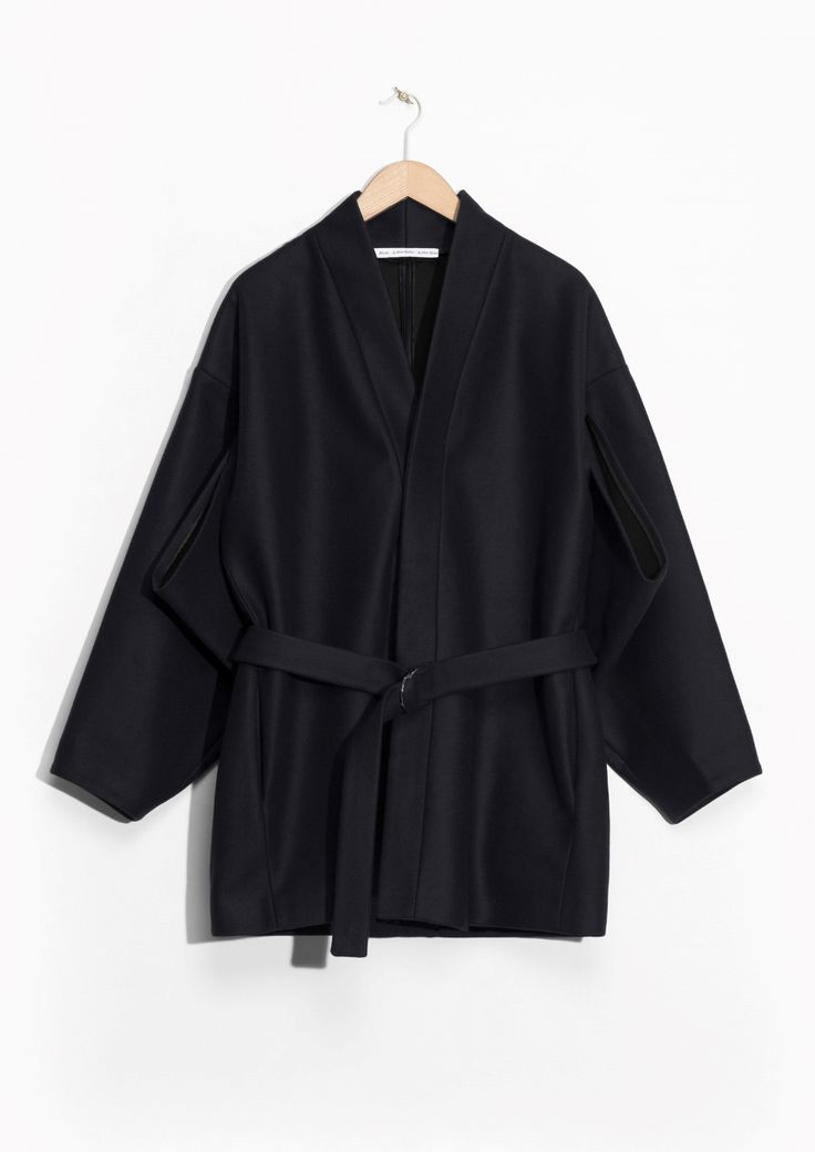 & Other Stories image 1 of Kimono Coat  in Navy