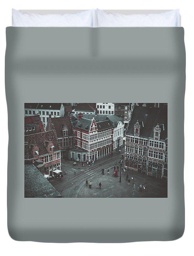 Travel Duvet Cover featuring the photograph Toy Town by Elena Ivanova IvEA    #ElenaIvanovaIvEAFineArtDesign #ForHome #DuvetCovers #Gift