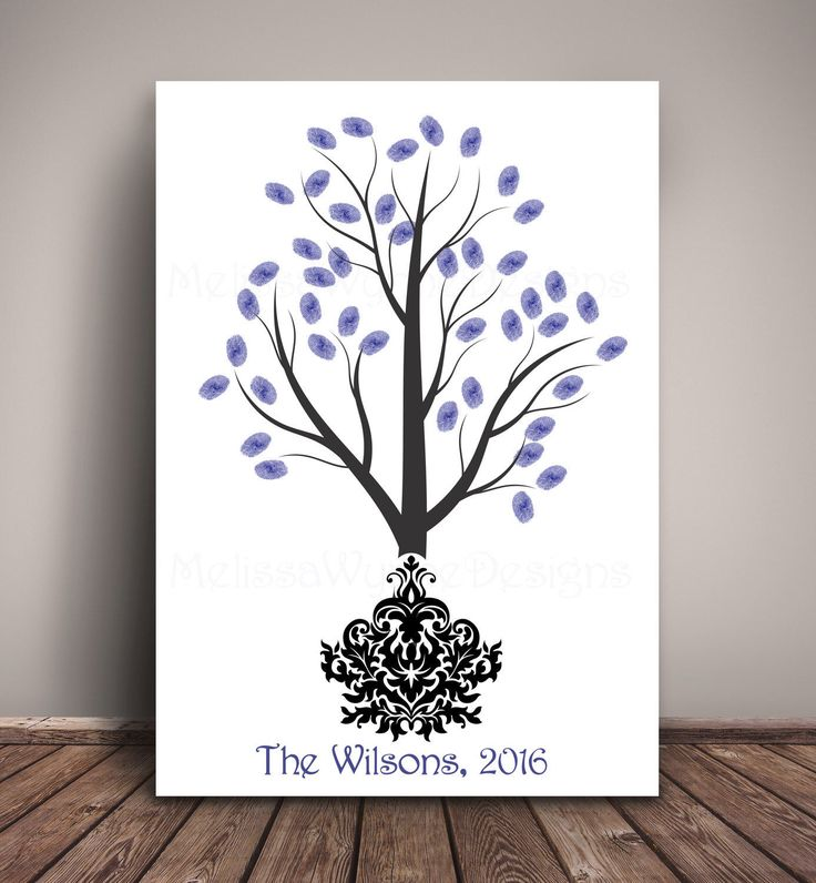 A personal favorite from my Etsy shop https://www.etsy.com/listing/272030068/thumbprint-tree-wedding-guest-book