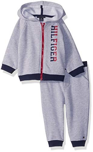 b09cbb3bc Tommy Hilfiger Baby Boys 2 Pieces Jog Set, Gray, 24M | Top 100 Tommy ...