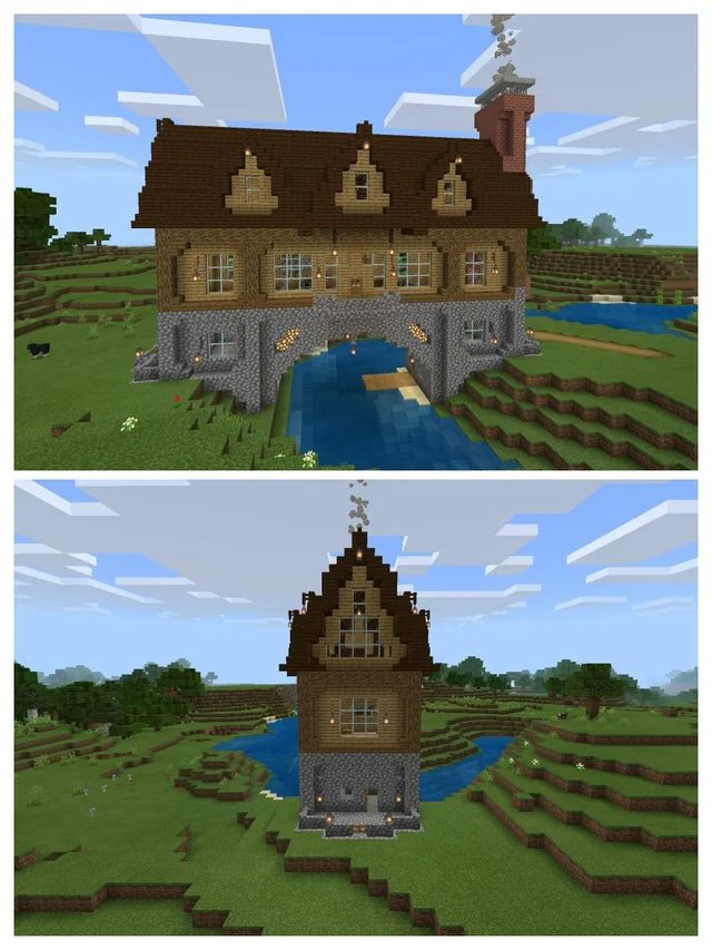 A house over a river, my first build on the Switch…