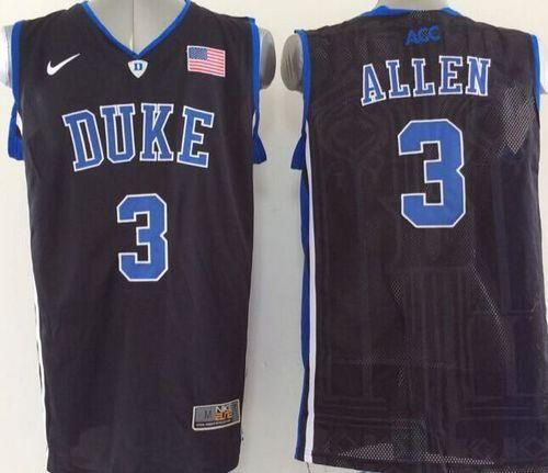 new concept 251d0 3006f Blue Devils #3 Grayson Allen Black Basketball Stitched NCAA ...