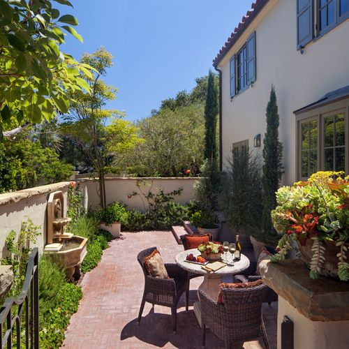 find this pin and more on outdoor patio garden courtyard - Spanish Style Patio Ideas