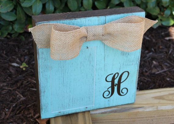 Monogram Picture Frame Personalized Picture by xBeyondBlessedx
