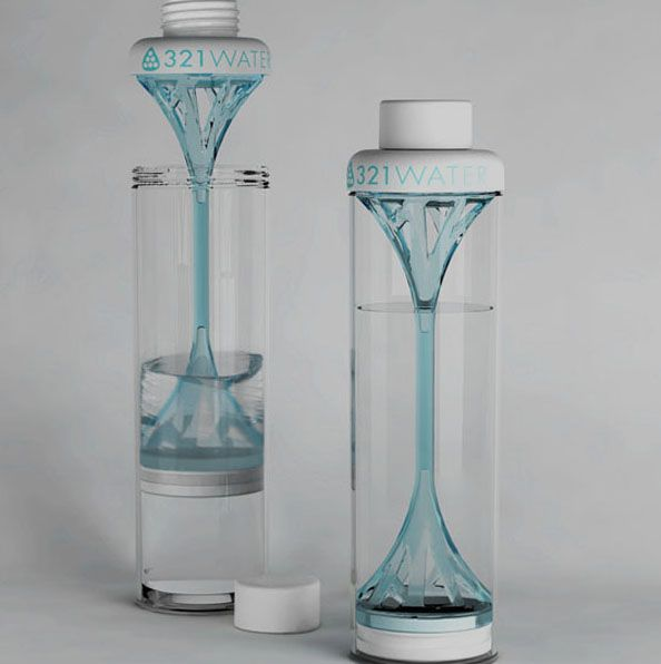 321 Water Bottle with Built-in French Press Style Filter. $35