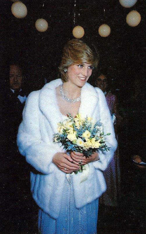 Sovereign Series No. 4 Royal Family 1982, No. 31 Princess Diana At The Premiere Of Little Foxes, April 8, 1982, Published By The Prescott-Pickup Co. Ltd., Made In England.