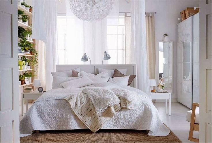 Спальня в  цветах:   Белый, Светло-серый, Серый, Коричневый.  Спальня в  стиле:   Минимализм.