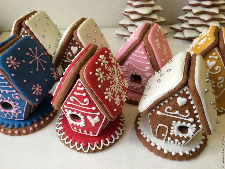 Купить Маленький пряничный домик с волшебной историей на Новый год, Рождество - пряничный домик, подарок на новый год