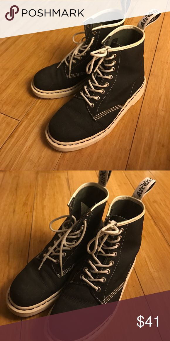 Dr. Martens black and white boots They are in great conditions only worn about two times, Some signs of wear but overall they are in excellent condition. Dr. Martens Shoes Combat & Moto Boots