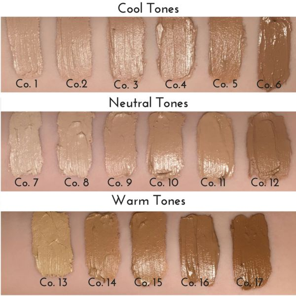 7 in 1 Coconut Creme Foundation 100% Natural and Certified Organic Ingredients flawless, radiant coverage natural SPF, certified paleo makeup