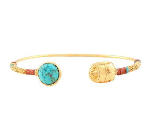 Bracelet Duality Gas turquoise bracelet scarabé or bijou de plage été http://www.vogue.fr/joaillerie/shopping/diaporama/bijoux-de-plage/21469/carrousel#bracelet-duality-gas