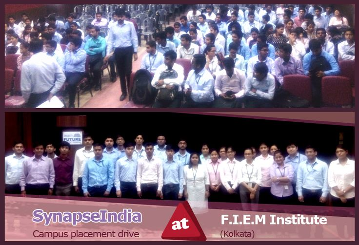 A campus placement drive by SynapseIndia was conducted at FIEM (Future Institute of Engineering and Management) institute in Kolkata, West Bengal. SynapseIndia, the ISO & Microsoft Gold certified premier IT company, visited the FIEM, Kolkata campus to offer SynapseIndia career opportunities to fresh graduates in various profiles including .Net, Android, SEO, ORM and Testing. B.Tech students from CSE, IT & ECE streams, and MBA final year students appeared in SynapseIndia campus placement…