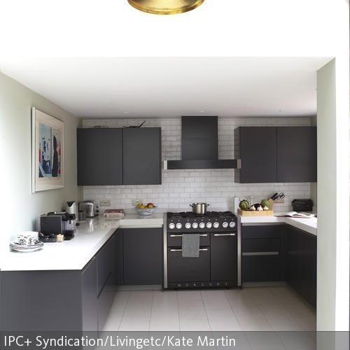 Kuchenzeile in grau weiss modern for Küchenzeile modern