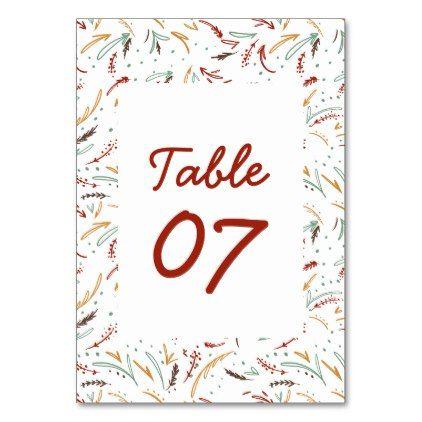Friendsgiving Typography Thanksgiving Dinner Envel Table Number | Zazzle.com