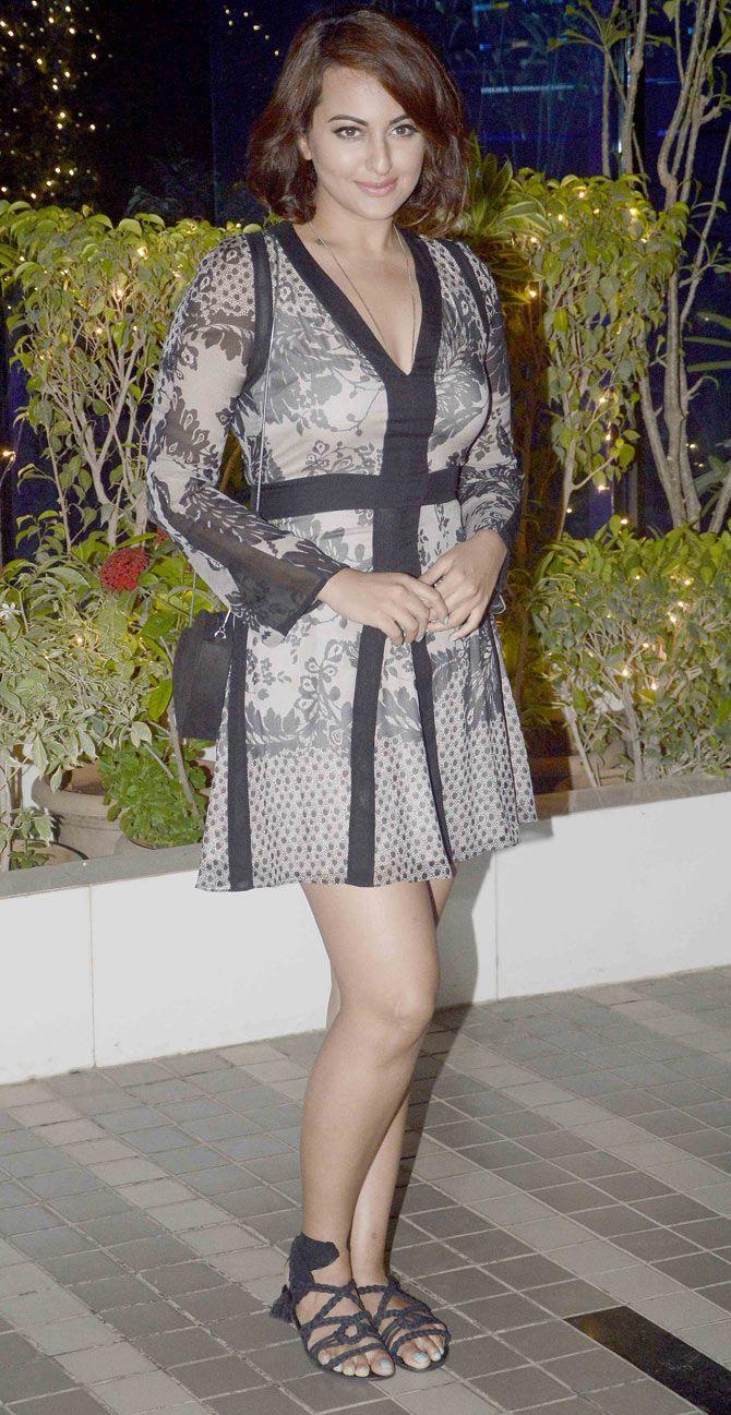 Sonakshi Sinha at the 'Mary Kom' success bash.