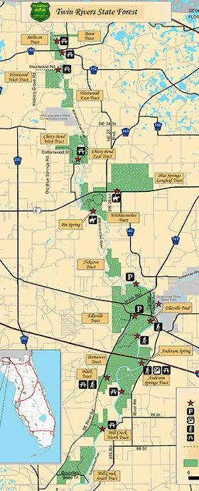 Map of Twin Rivers, Anderson Springs & Ellaville tract - both trailwalker trails