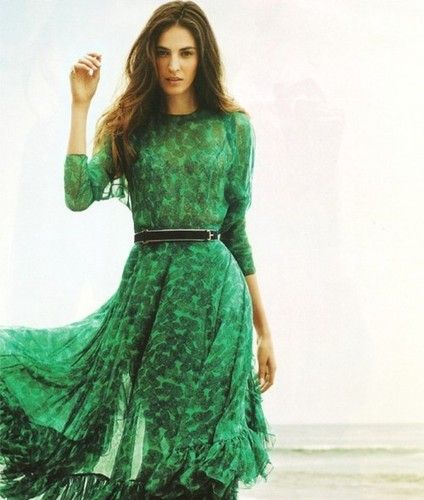 Pretty dress (emerald colored)