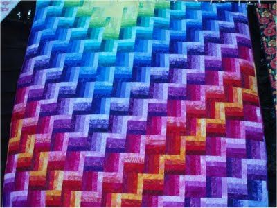 "Quilt Inspiration: ""Northern Lights"" Simple, dimensional shapes: Joen Wolfrom Designs"