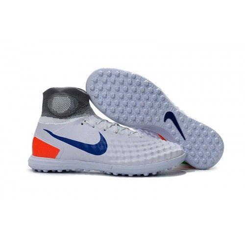 Scarpe Da Calcetto Nike Magista Obra Ii Tf Bianche Grigio Blu Arancia