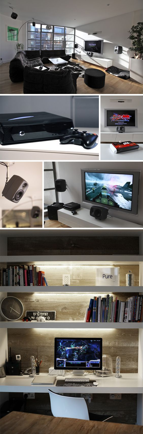 London Gaming Flat via NeoGAF user Chittagong. Winner of the 2013 Show us your gaming setup thread.
