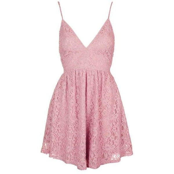 Dress by Oh My Love ($56) ❤ liked on Polyvore featuring dresses, short dress, pink dress, nylon skater dress, fit flare dress, skater dress and pink fit-and-flare dresses