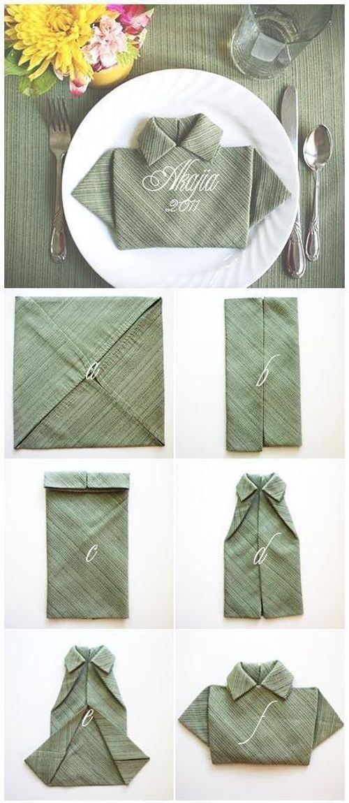 MamyPops: *POP Idea: Servilleta doblada en forma de camisa / Guardanapos dobrados em forma de camisa
