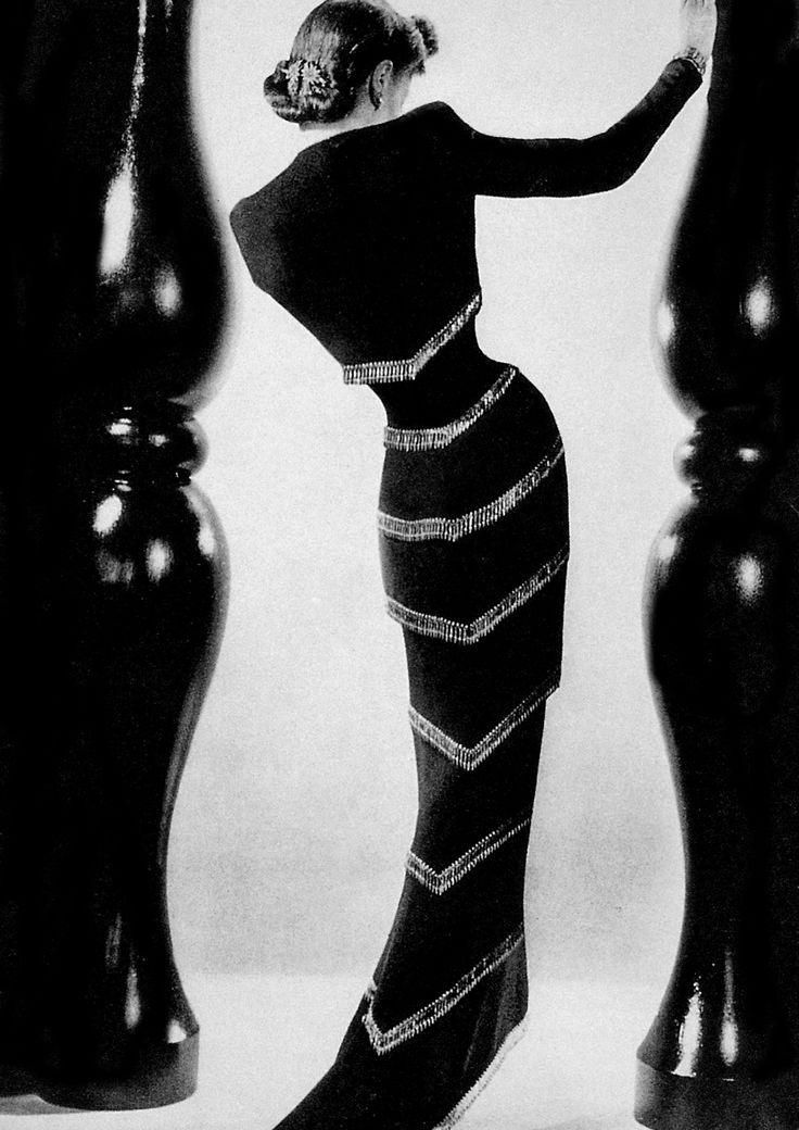 """Skeleton"" dress by Elsa Schiaparelli."