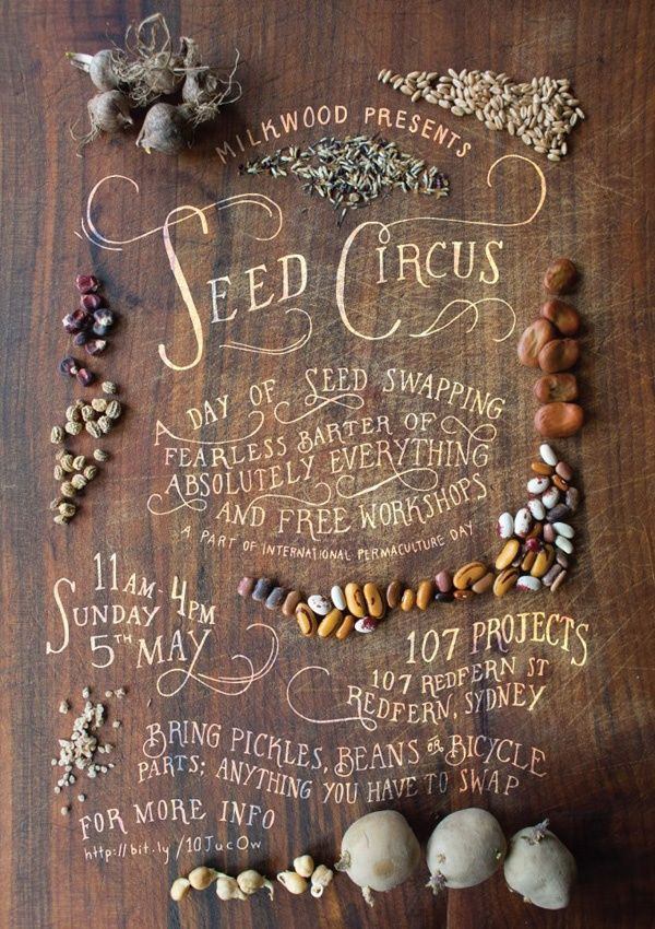 seeds + circus + typography = <3
