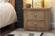 Torino 2 Drawer Narrow Bedside Cabinet