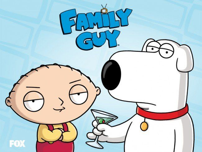 Family Guy, that's about a wacky Rhode Island town, a dysfunctional family strive to cope with everyday life as they are thrown from one crazy scenario to another.