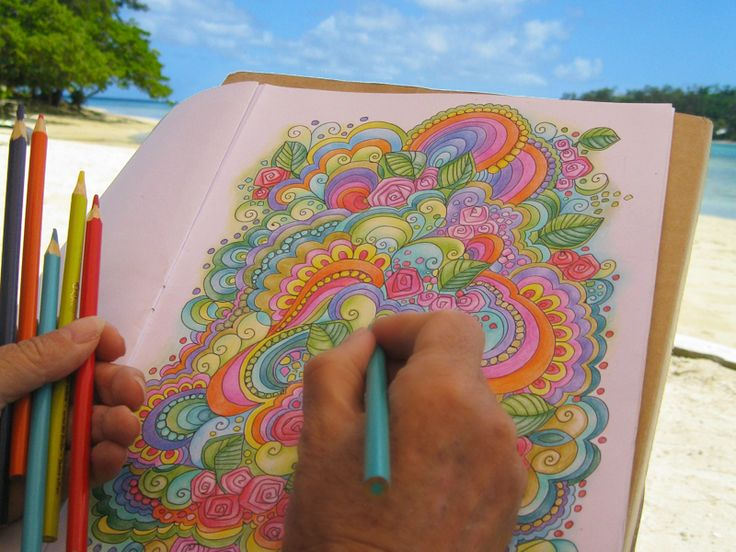 Colouring on a South Pacific island