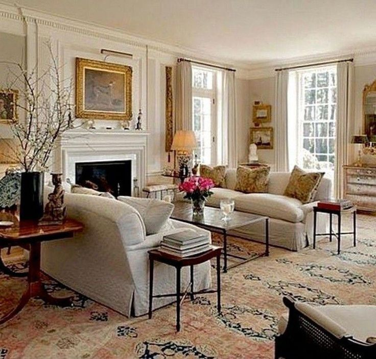 Traditional Elements And That Rug Is A Statement Underfoot And Supports All The Desi Formal Living Room Decor Living Room Decor Traditional French Living Rooms