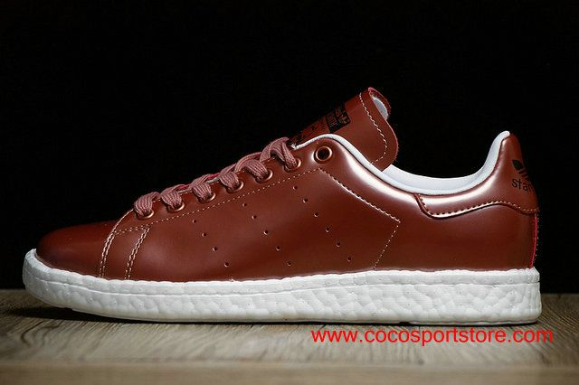 Adidas Stan Smith Metal Bronze Boost BB0107 Womens Shining Shoes