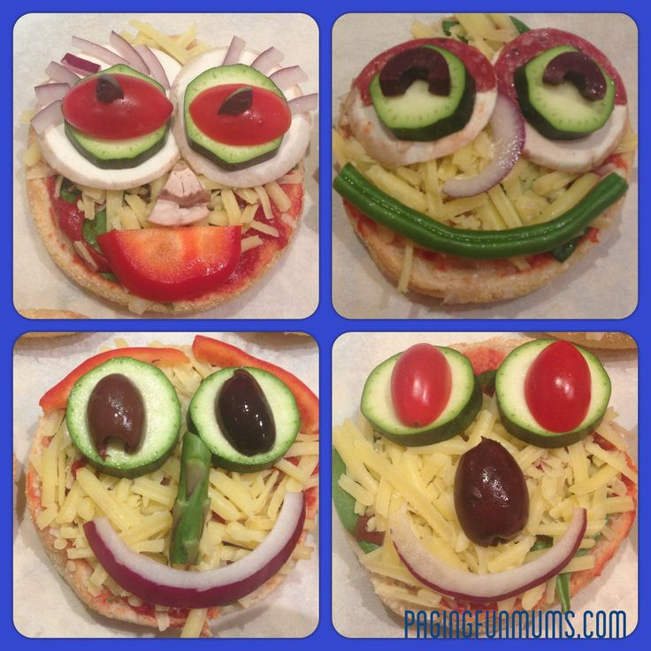 Pizza-licious Happy Faces!