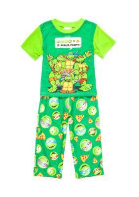 Nickelodeon  Multi Ninja Turtles Pizza Party 2-Piece Pajama Set Toddler Boys