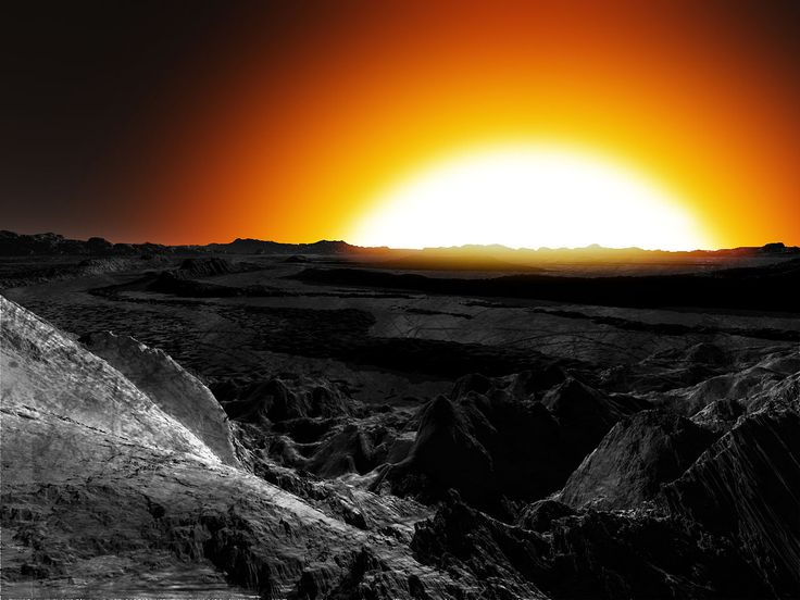 (Восход светила на 55 Рака е (55 Cancri e)  в представлении художника.)  Поскольку температура на дневной стороне планеты превышает 2000 K, стабильная оболочка из воды невозможна. По новым исследованиям[4], скорее всего, 55 Рака e в своём составе содержит большую долю углерода, который в её недрах образует толстые слои из разных модификаций, например, графита и алмаза. При этом, воды в составе планеты почти нет.