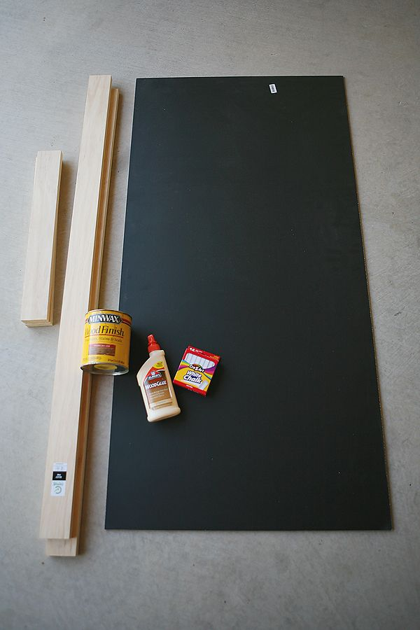 Super Simple XL , made from 1x3 boards cut to any size and chalkboard sheet from Home Depot