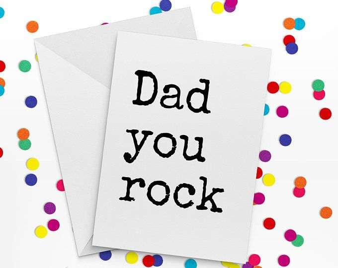 Father Day Card, Dad You Rock, Sir You Rock, Card for Dad, Father of the Bride Card, Birthday Card for Dad